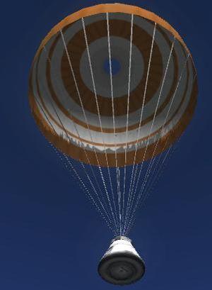 during a space shuttle landing a parachute deploys - photo #32
